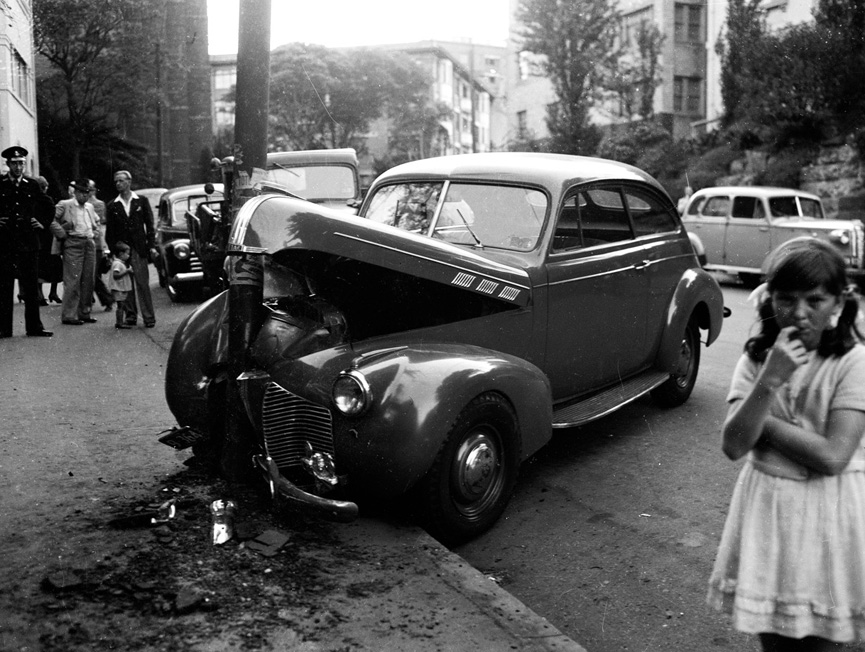 Escena de accidente en Kings Cross, 1948. HHT