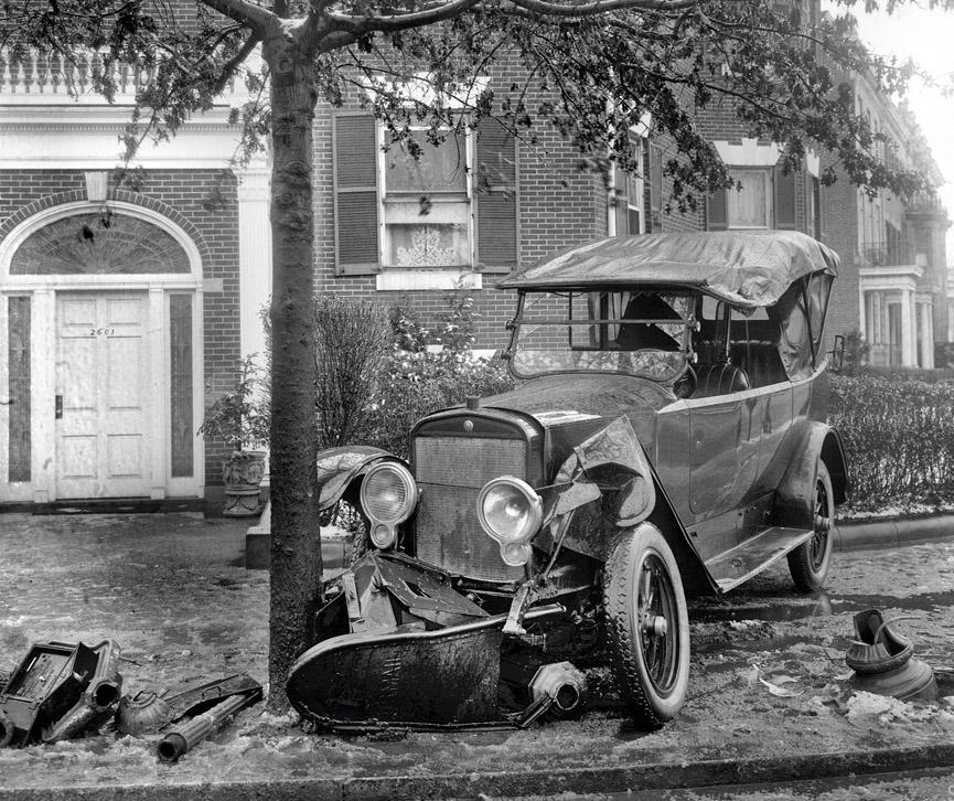 Accidente del Senador Boies Penrose en 1920. Shorpy