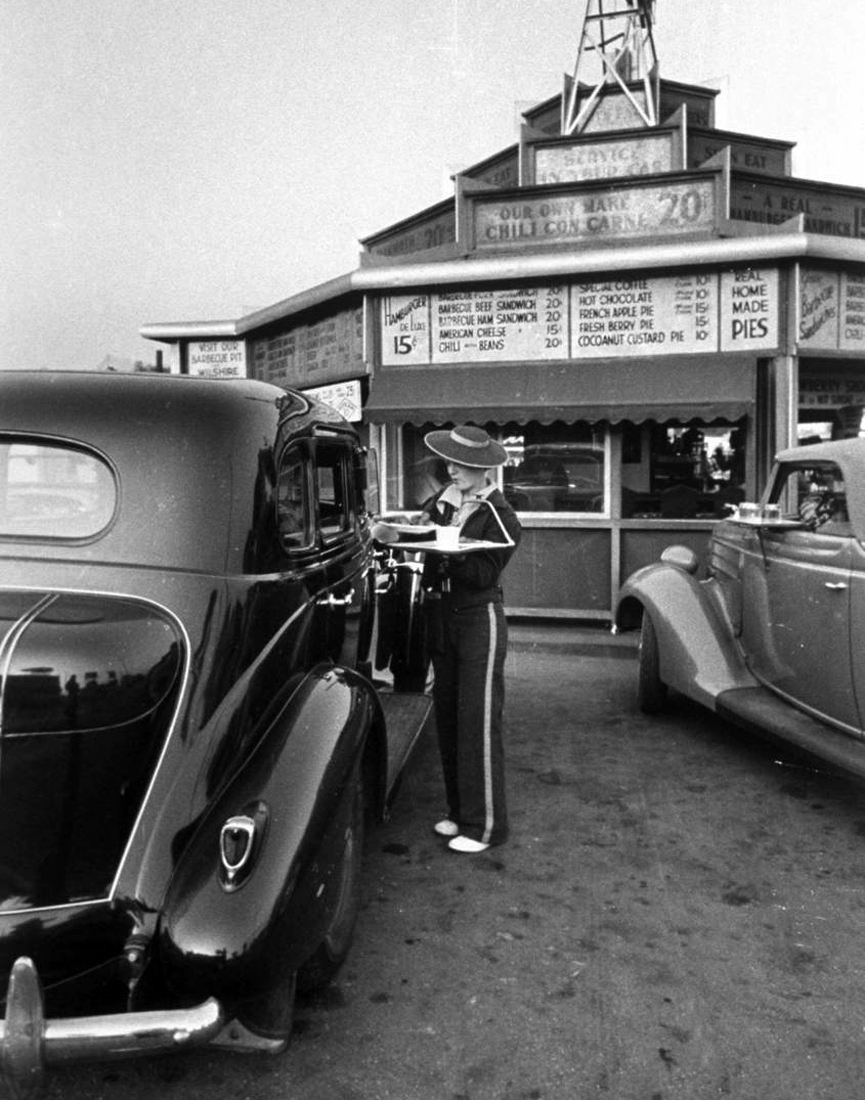 Restaurante Drive-in. Los Angeles 2, 1936. Alfred Eisenstaedt