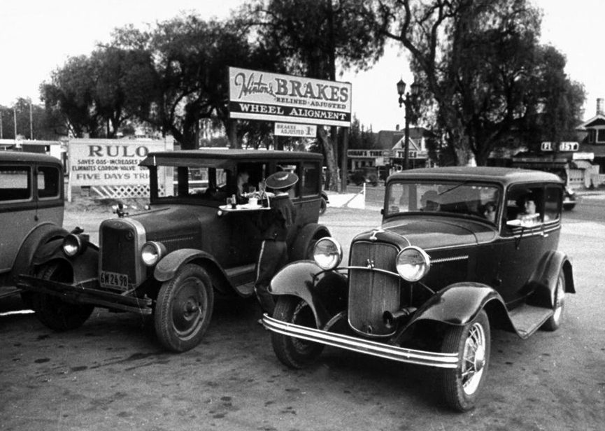 Restaurante Drive-in. Los Angeles, 1936. Alfred Eisenstaedt