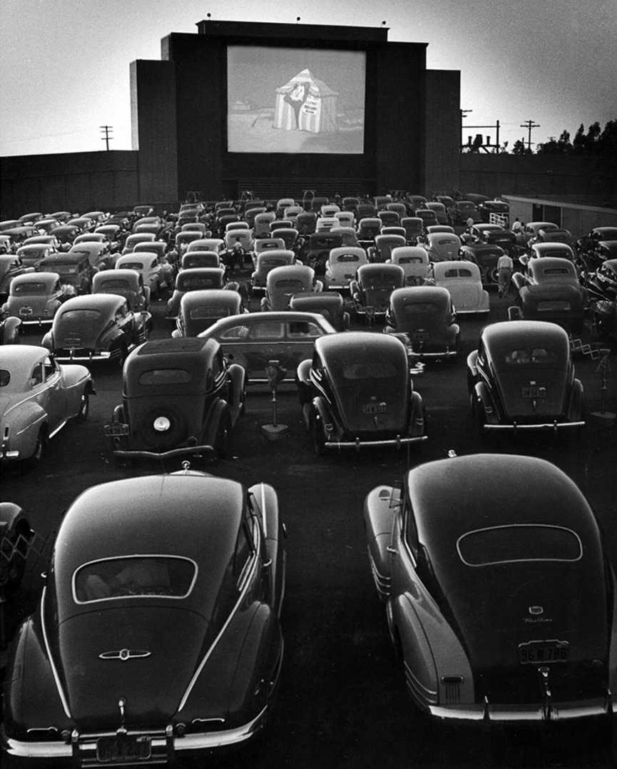 Drive-In Theater en San Francisco, 1948. Allan Grant