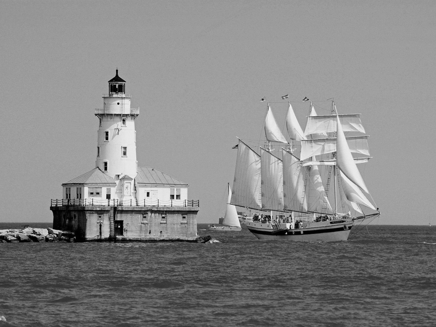 Chicago Harbor Lighthouse, Illinois. Kawaski Taif