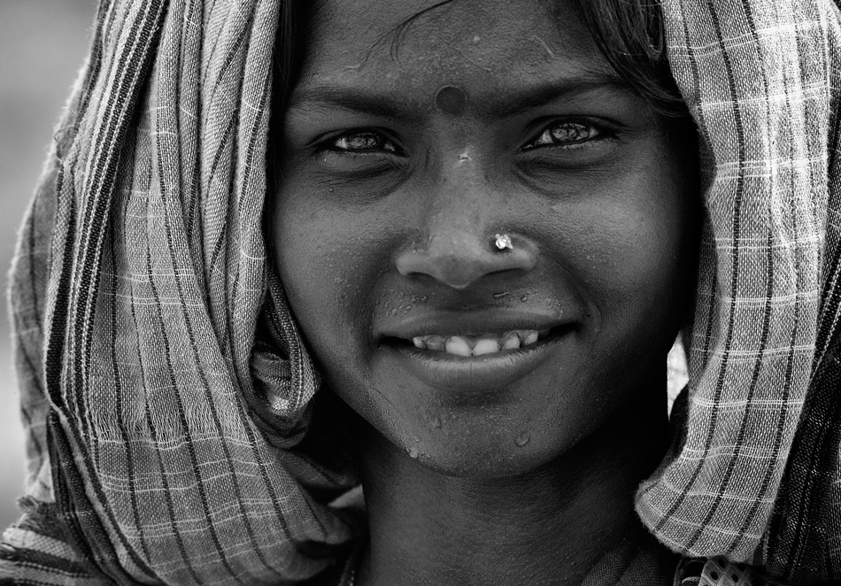 Smile of an indian female worker. Robert