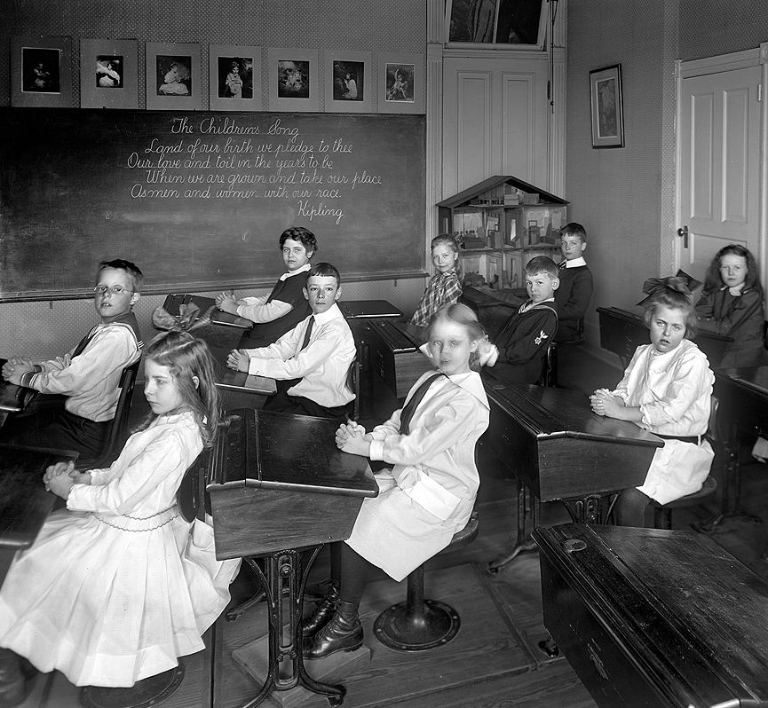 Escuela de Potomac en Washington, 1910. Shorpy