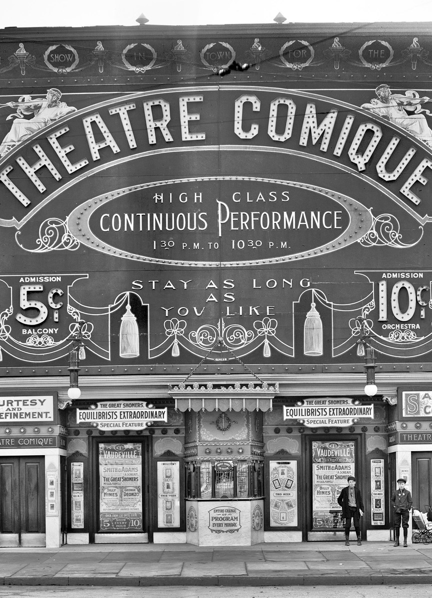 Theatre Comique en Detroit, Michigan. 1910. Shorpy