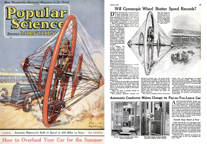 Popular Science. Abril de 1923. Popular Science